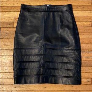All saints black lamb leather mini skirt